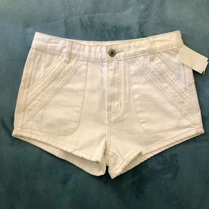 Free People crochet embroidered shorts NWT size 27
